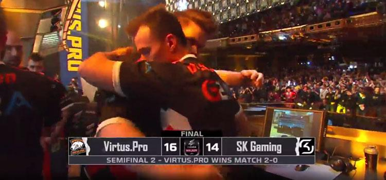 Virtus.pro pokonuje SK Gaming i awansuje do finału ELEAGUE Major 2017!