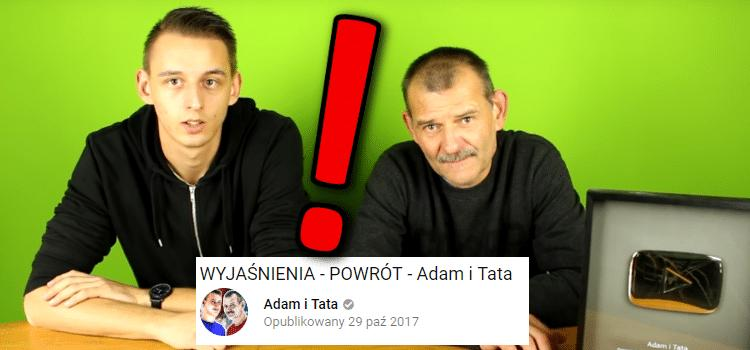 Adam i Tata wracają na YouTube!